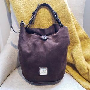 Dooney & Bourke Suede Feed Bag in Brown